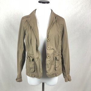 Style & Co Brown utility jacket stretch